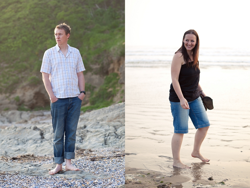 Michelle and Chris | Saunton Sunset Stroll | North Devon Engagement Photography