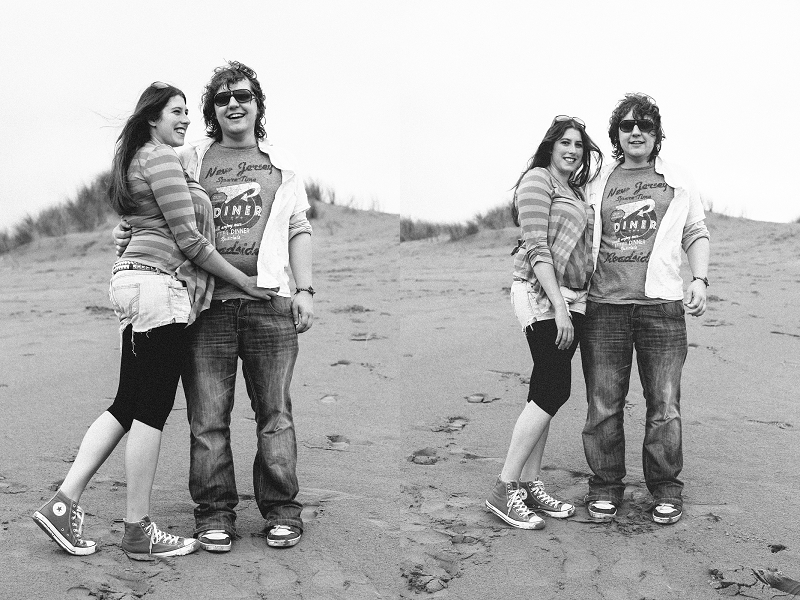 Jodie and David | Saunton Burrows engagement shoot