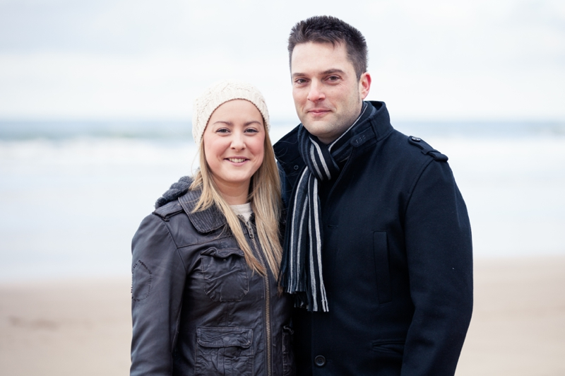 Carla and Darren | Engagement shoot | Woolacombe Beach